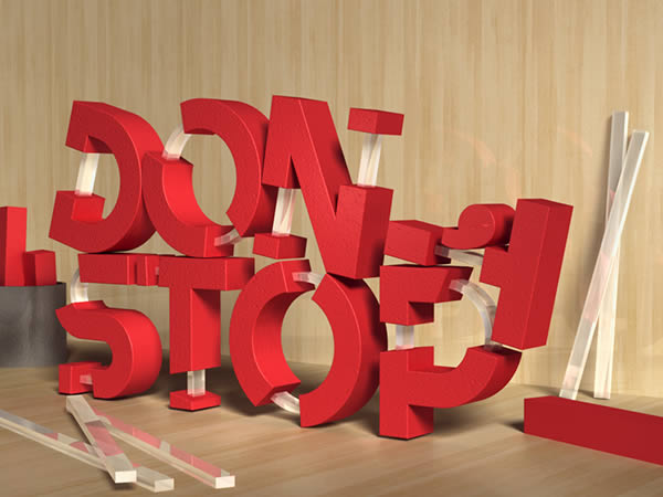 19 Create 3D Rubber and Glass Text in Photoshop CS6