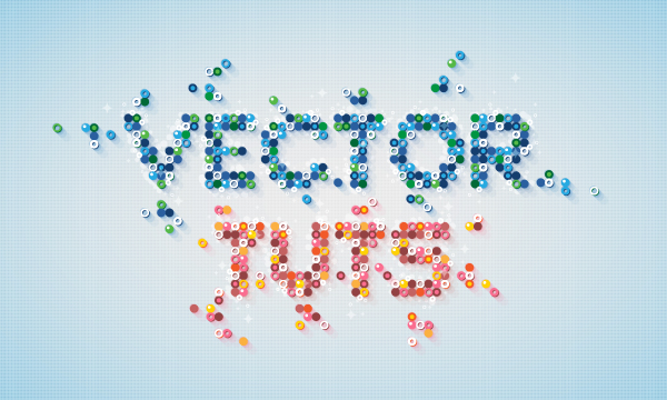 21 Create a Mosaic, BBC Inspired, Text Art Effect in Adobe Illustrator