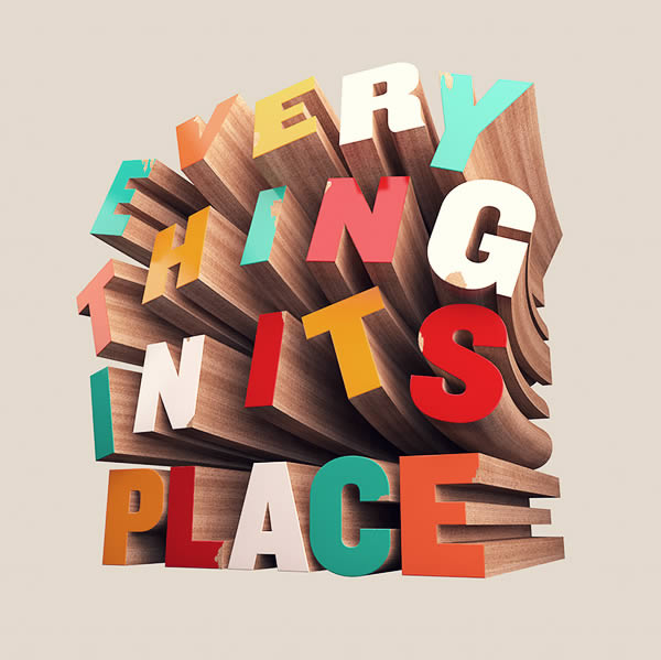 22 How to Create Colorful Wooden 3D Text