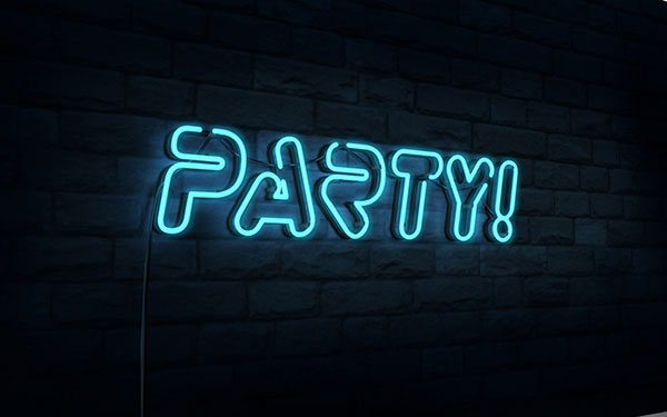 25 Create a 3D Neon Night Club Sign in Photoshop CS6 Extended
