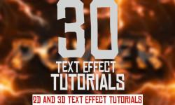 30 New Best 2D and 3D Text Effect Tutorials