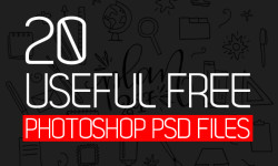 20 New Useful Free Photoshop PSD Files