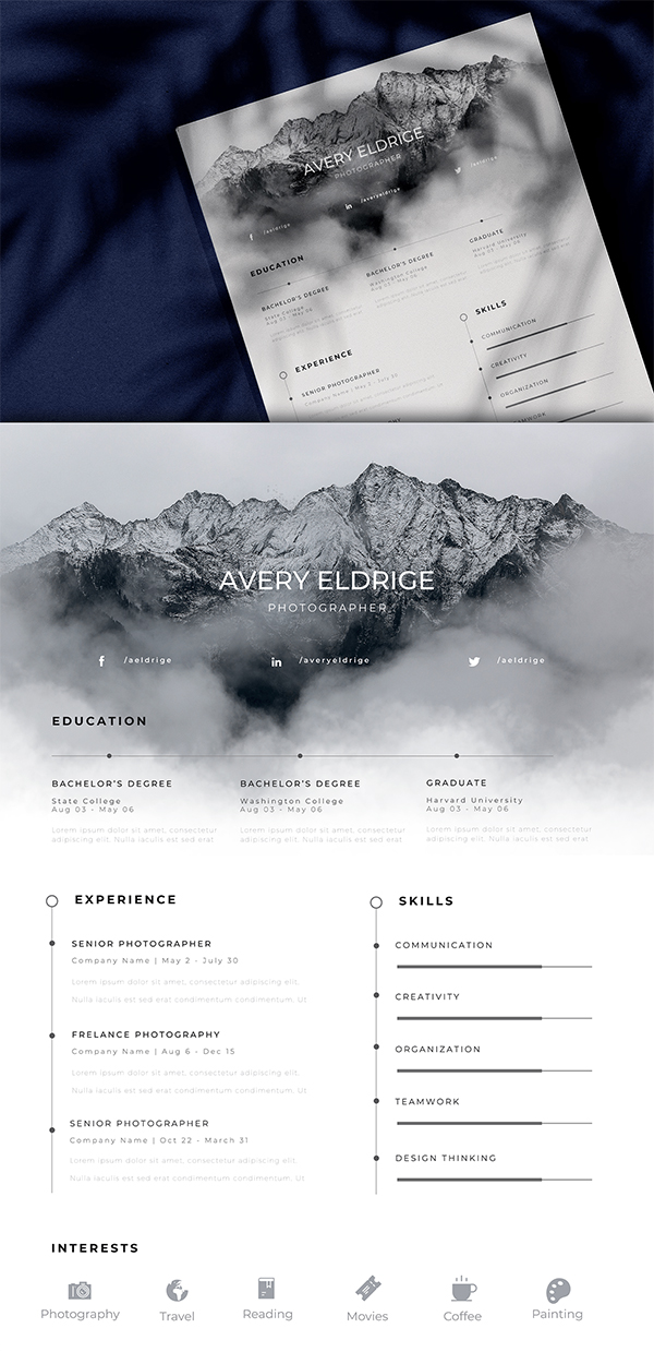 FREE Beautiful Creative Resume Template