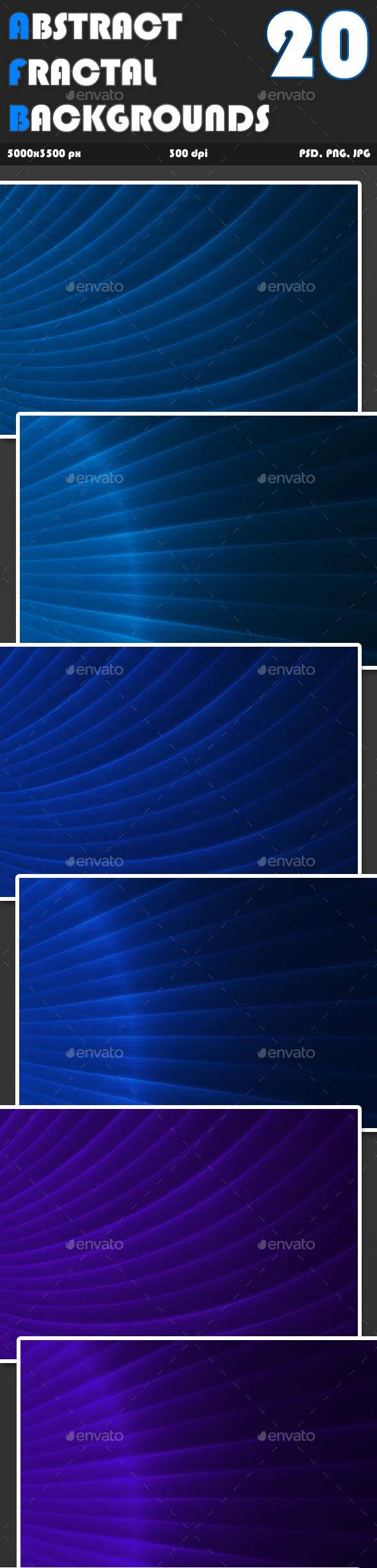 Abstract Fractal Backgrounds Vol1