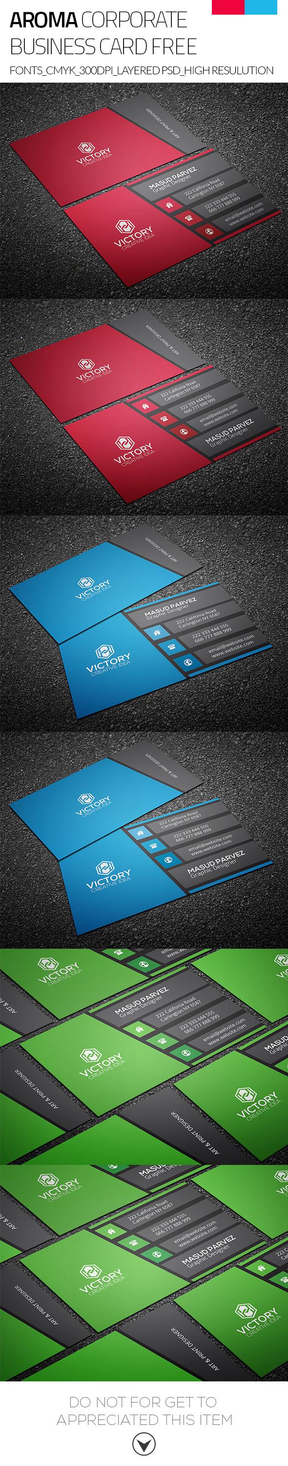 Aroma & Corporate Business Card