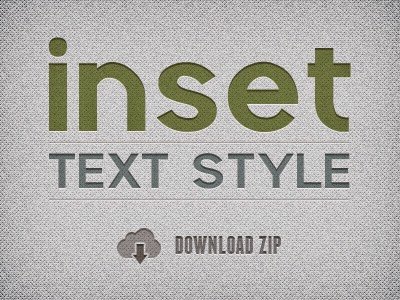Inset Text Layer Style