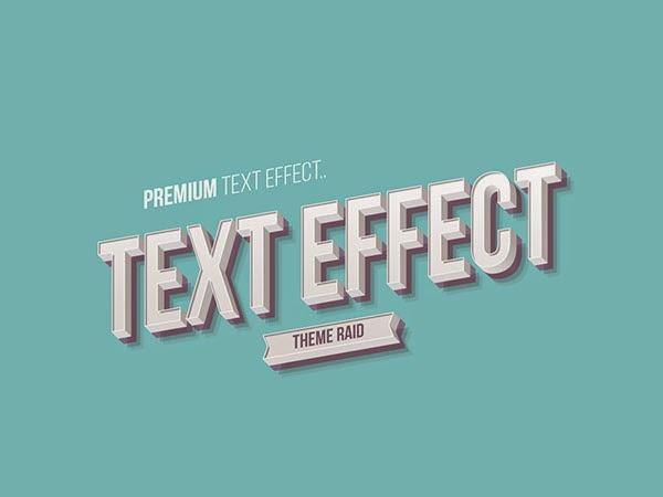 Isometric Text Style