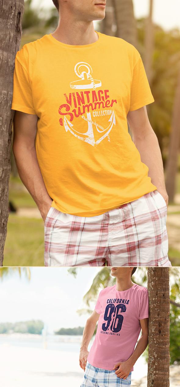 Male T-shirt Mock-up PSD