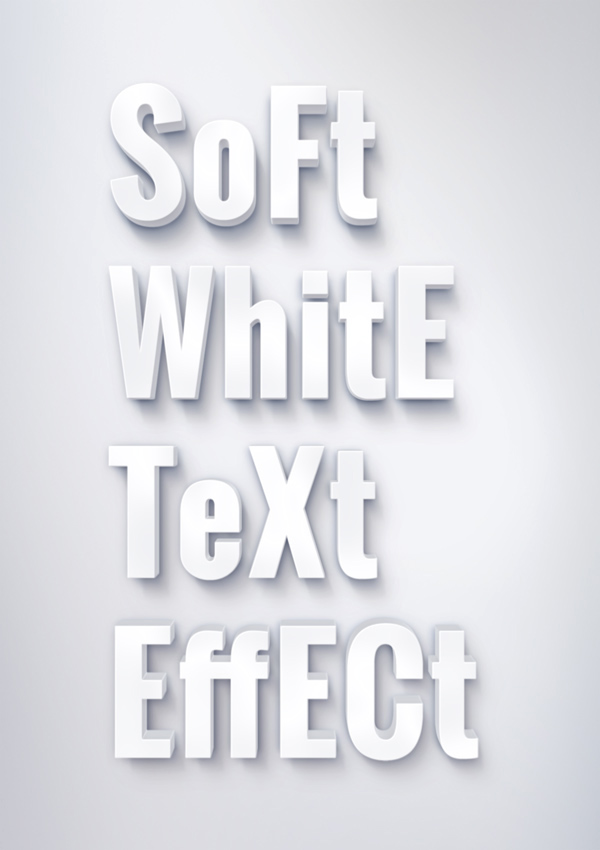 Soft White Text Effect