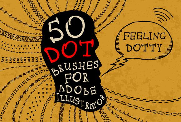 50 Dot Brushes