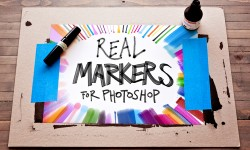 5 Real Markers For Photoshop Freebies