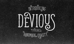 Devious Typeface Font