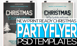 25 Best Print Ready Christmas Party Flyer/ Invitation