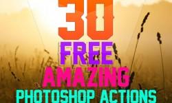 30 Best Amazing Free Photoshop Actions