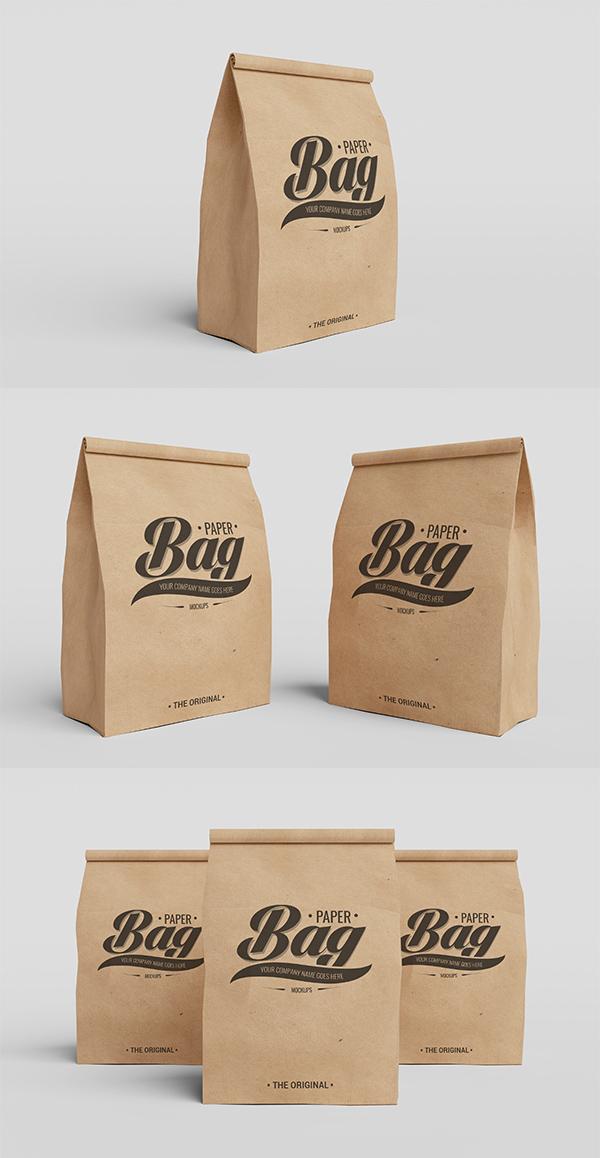 09_Packaging Paper Bag PSD Mockups