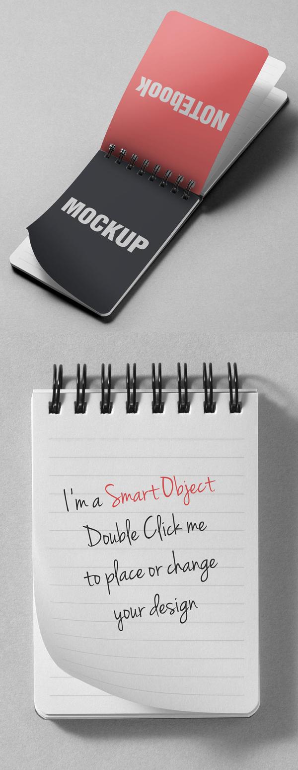 12_Simple Note Book Mockups