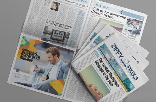 14_PSD Newspaper Advertisement Mockup
