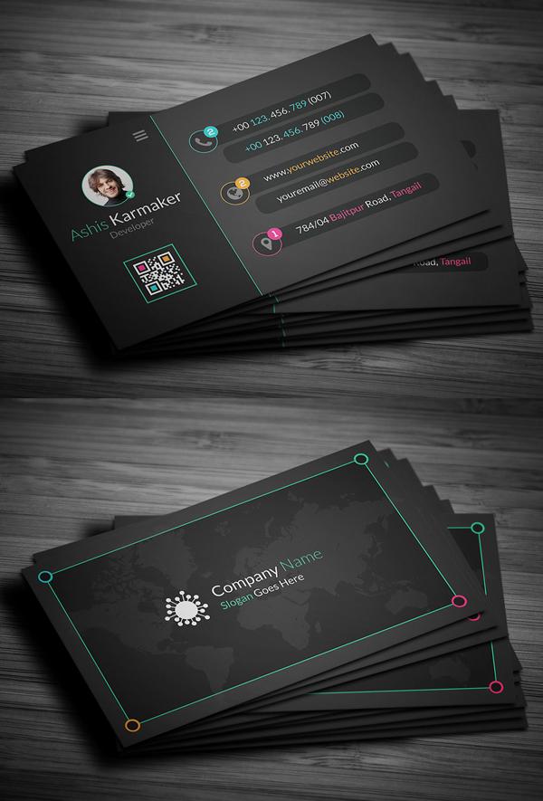 02 Creative Dark Business Card Design
