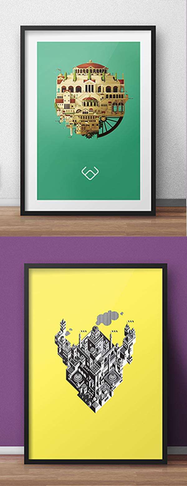 02 Free PSD Poster Mockups