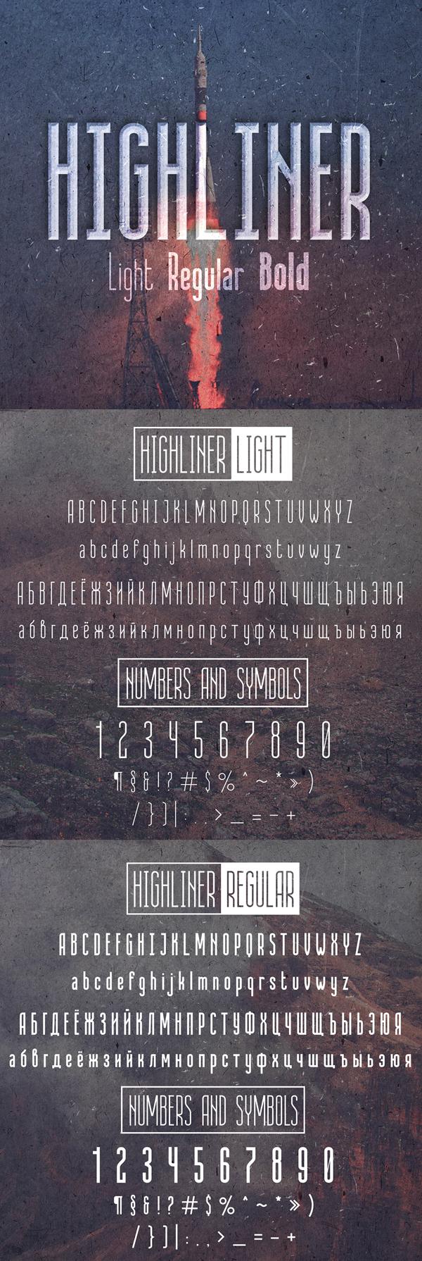 02 Highliner Free Font