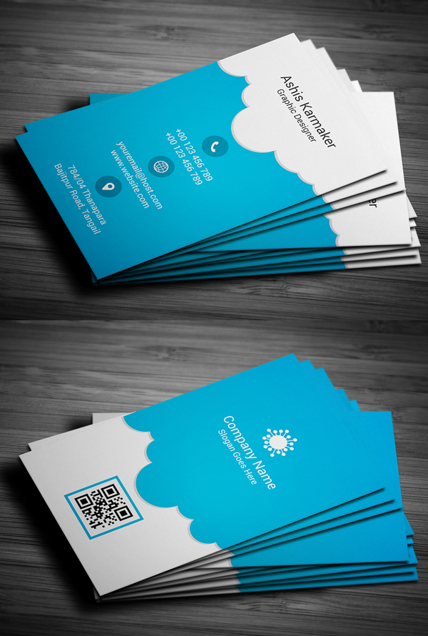 03 Cloudy Business Card Design