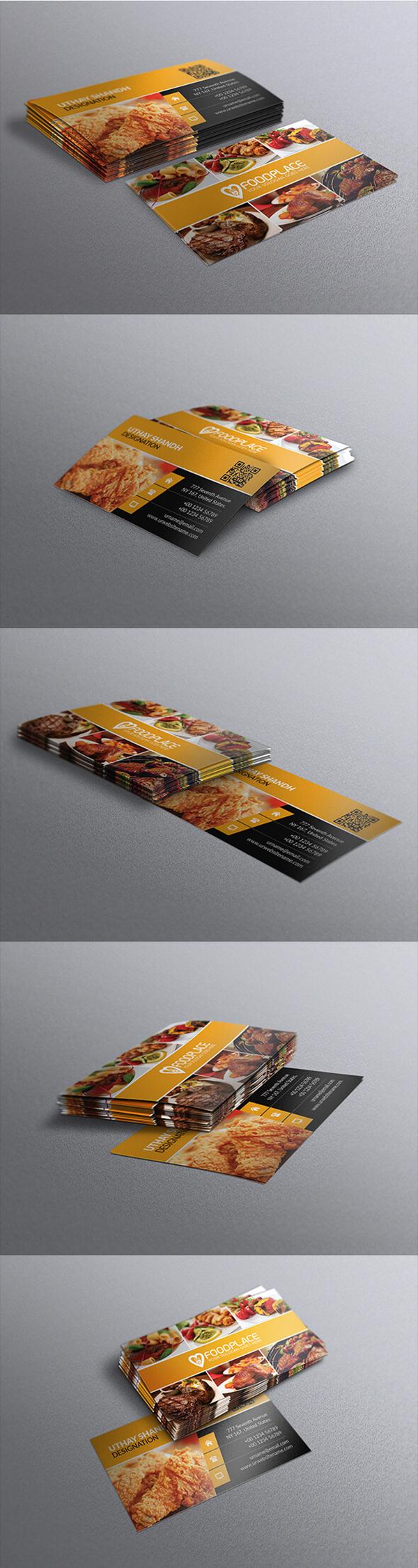 03 Free Restaurant Business Card Template