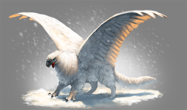 03 Quickly Paint a Snow Griffin