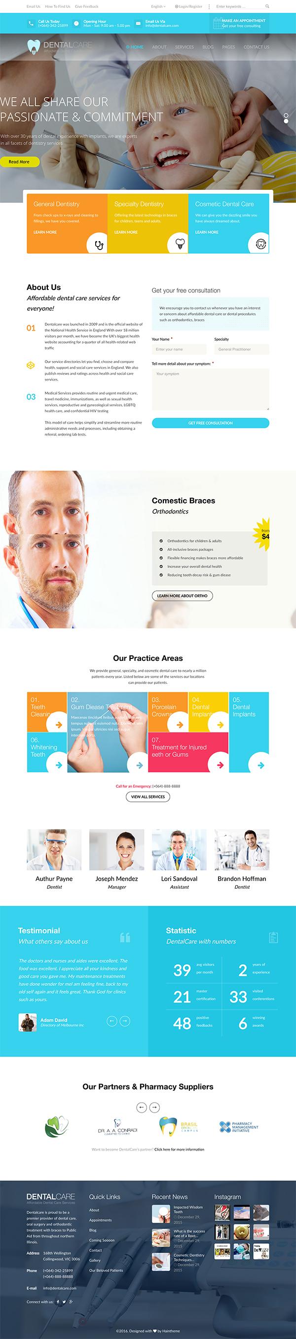 04 Dentalcare - Medical & Health WordPress Theme