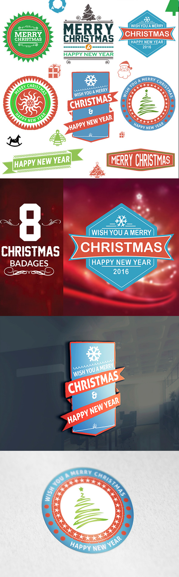 04 Free Christmas Badges Download