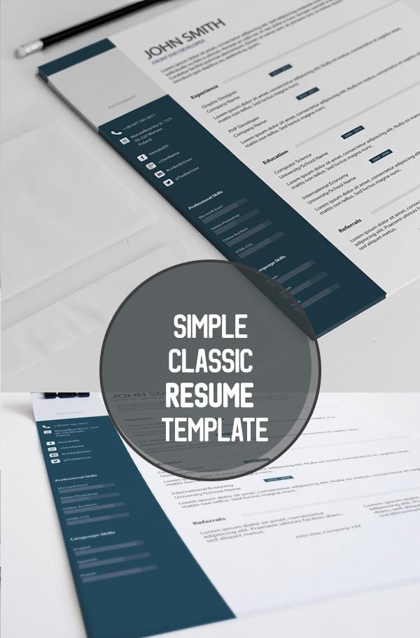 04 Simple Classic Resume Template