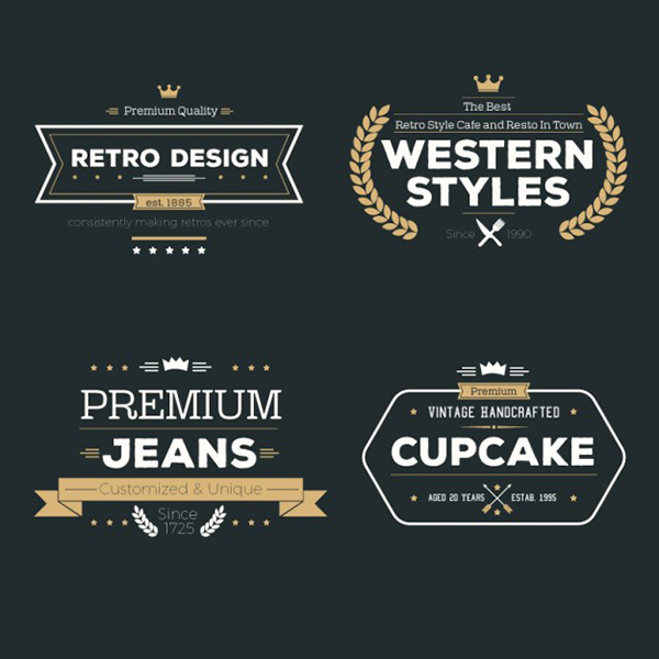 08 Free variety of retro badges