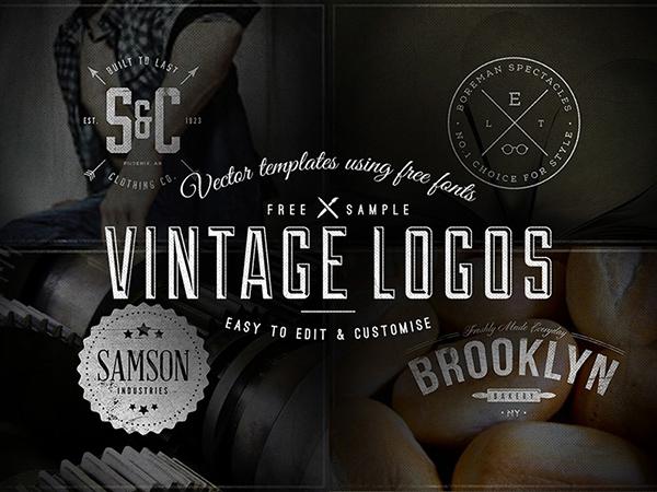 09 Free Vintage Logo Badge Templates
