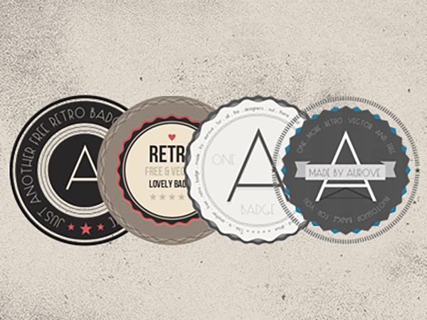 10 Free Retro Badges