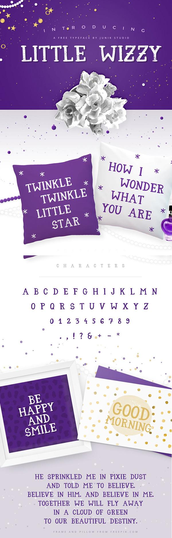 10 Little Wizzy Free Font