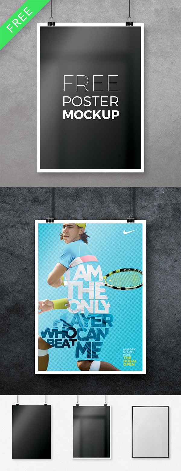 11 Free Multipurpose Photoshop Poster Mockup