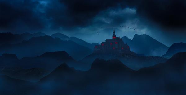 12  Create a Dark Landscape Matte Painting