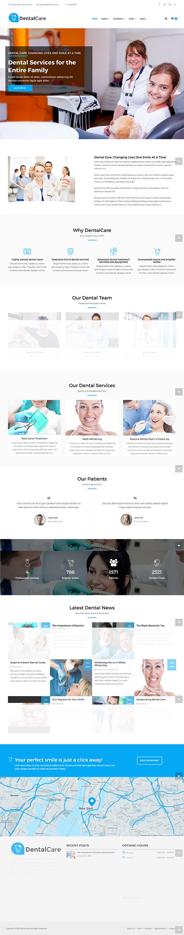 12 Dental Care - Dental & Medical WordPress Theme