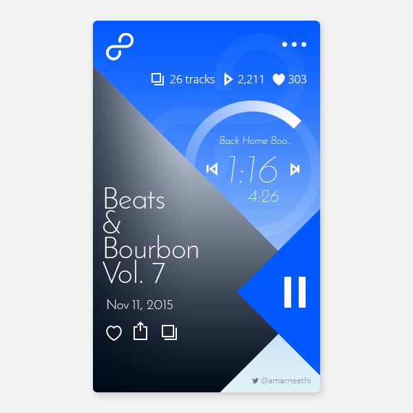 12 Free Music App UI PSD Template