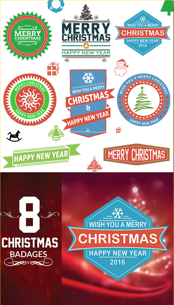 13 Free Christmas Badges