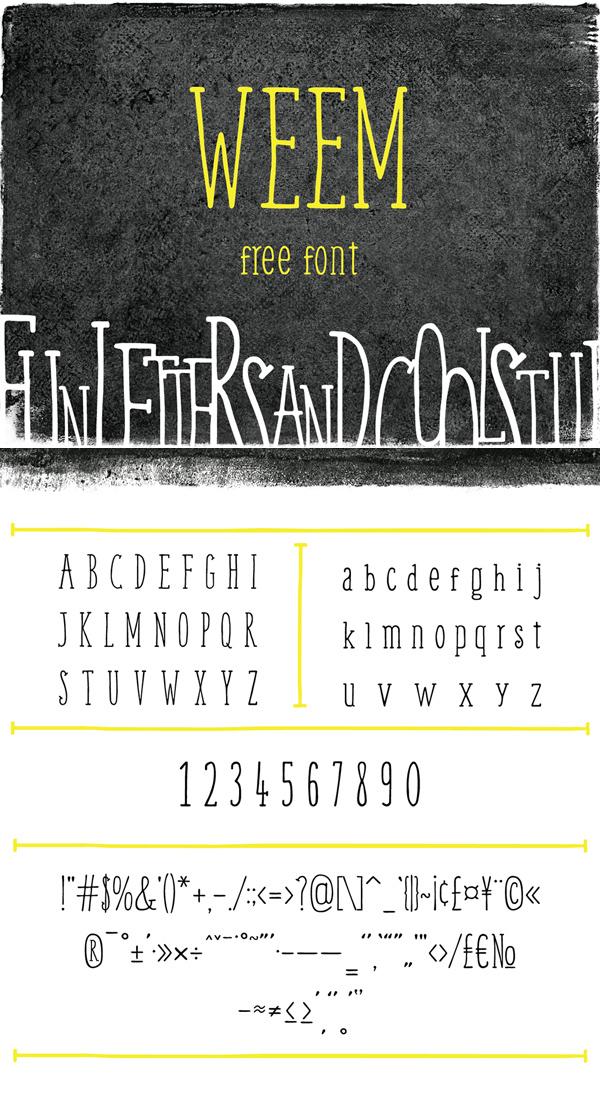 13 Weem Free Font