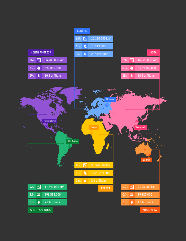 14 Free Vector Map Infographic