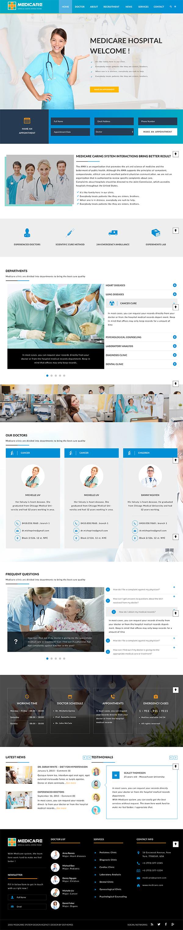 14 Medicare - Medical and Health Responsive WordPress Theme