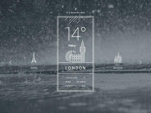 15 Free Weather UI PSD Design
