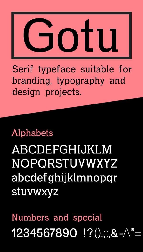 15 Gotu Free Font