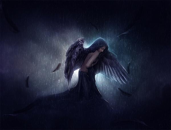 15 Sad Angel In Photoshop