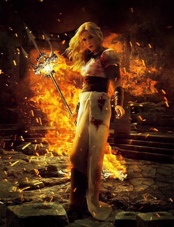 16 Fiery Fantasy Warrior