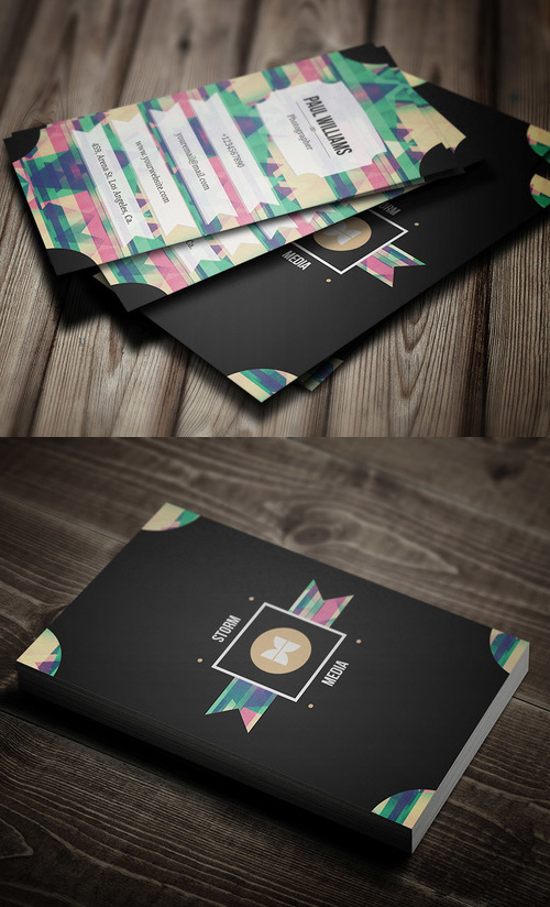 16 Retro:Vintage Style Business Card