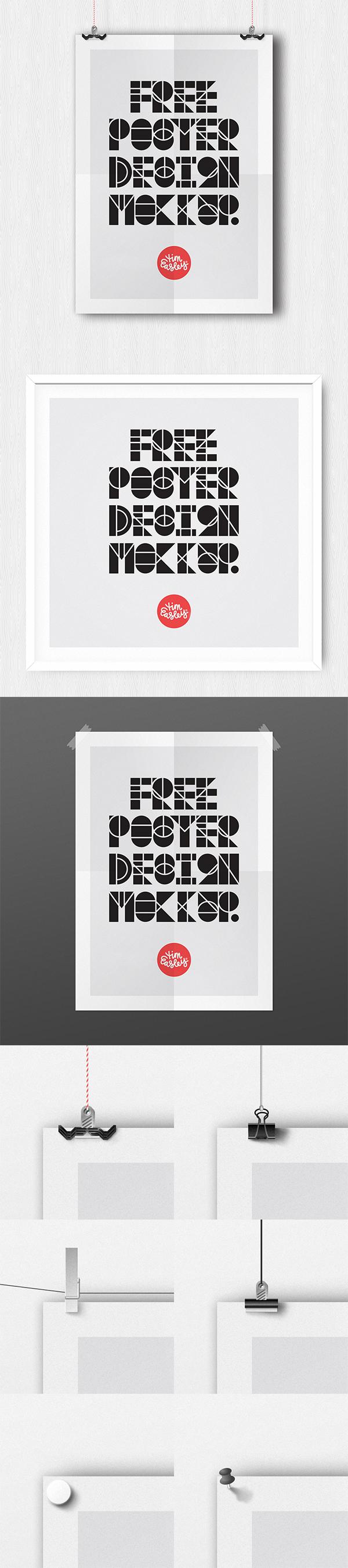 18 Free Poster Design Mockup