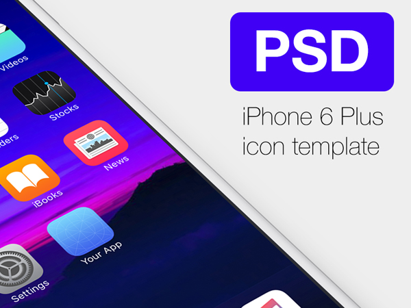 20 Free Icon Template for iPhone6 Plus