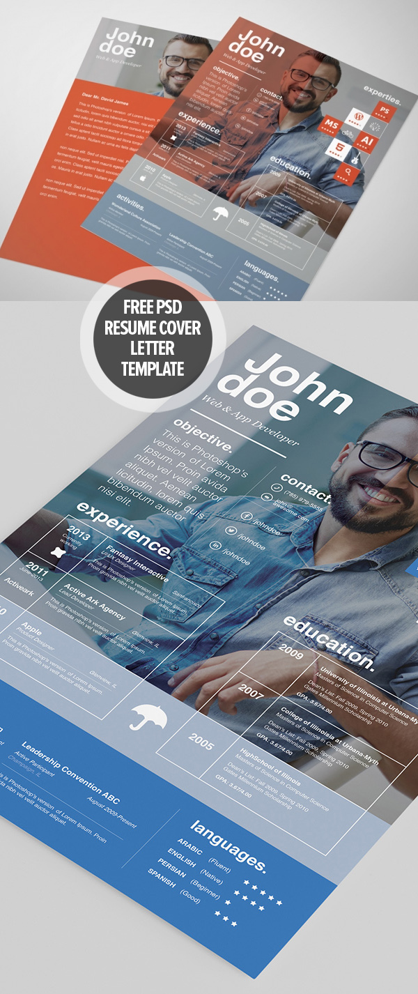 20 Free Resume template + cover letter template